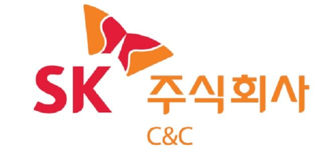 SK(주) C&C 로고.