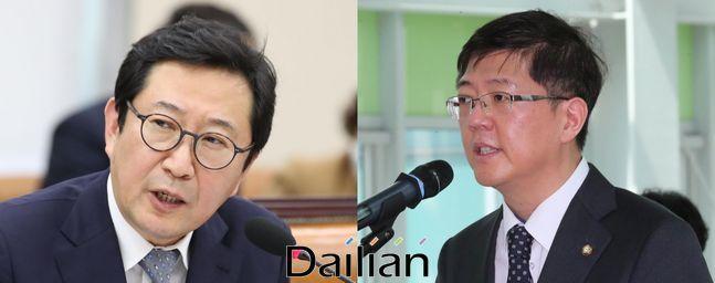 (왼쪽부터) 주진형·김홍걸 더불어민주당 의원ⓒ뉴시스