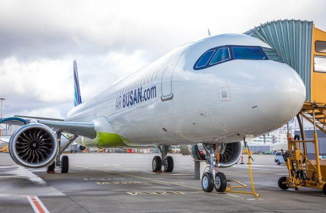 에어부산 A321LR 항공기.ⓒ에어부산