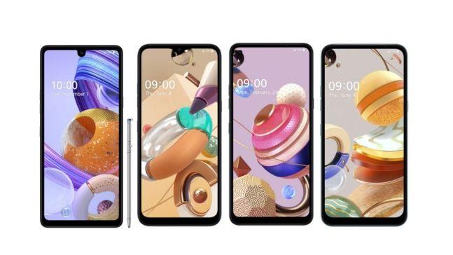 왼쪽부터 LG전자 스마트폰 'LG 스타일로 6', 'LG K41S', 'LG K51S', 'LG K61'.ⓒLG전자