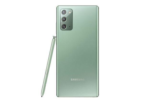 삼성전자 플래그십 스마트폰 '갤럭시노트20' 미스틱 그린 색상.ⓒ삼성전자