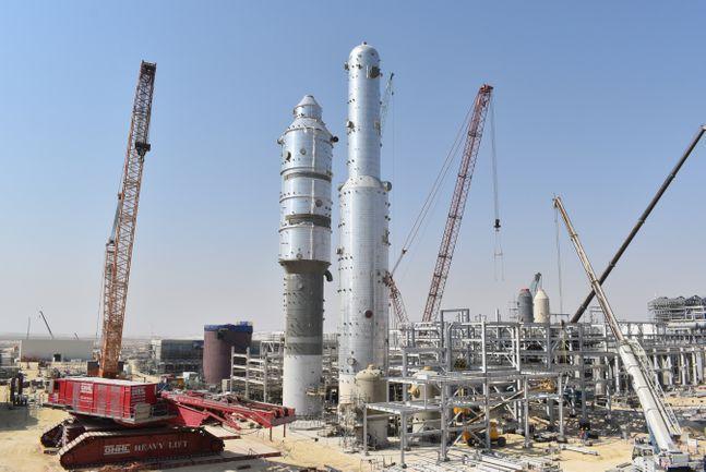 대림산업이 설치 완료한 사우디 마덴 암모니아 Ⅲ 공장의 이산화탄소 제거 시설ⓒ대림산업