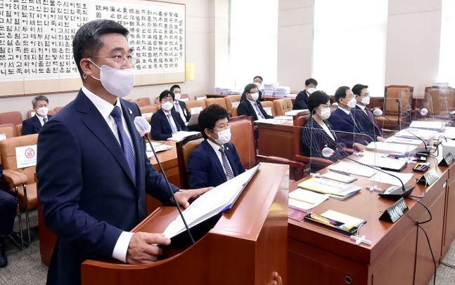 21일 서울 여의도 국회에서 열린 국회 법제사법위원회 전체회의. ⓒ데일리안 박항구 기자