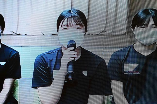 2020-21 KOVO 여자 신인선수 드래프트, 1라운드 1순위 제천여고 김지원. ⓒ KOVO