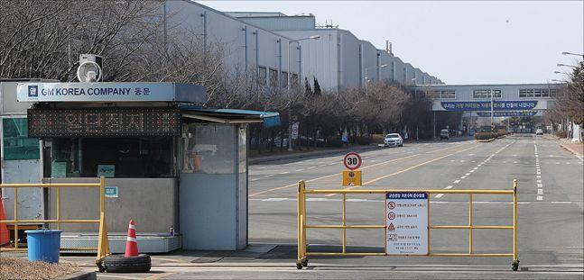 폐쇄 직전인 2018년 2월 당시 한국GM 군산공장 전경. ⓒ데일리안 홍금표 기자