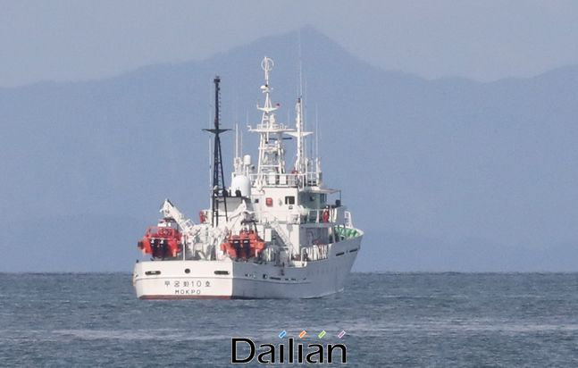 인천시 옹진군 연평도 해상에 정박된 실종 공무원이 탑승했던 어업지도선 무궁화 10호 ⓒ뉴시스