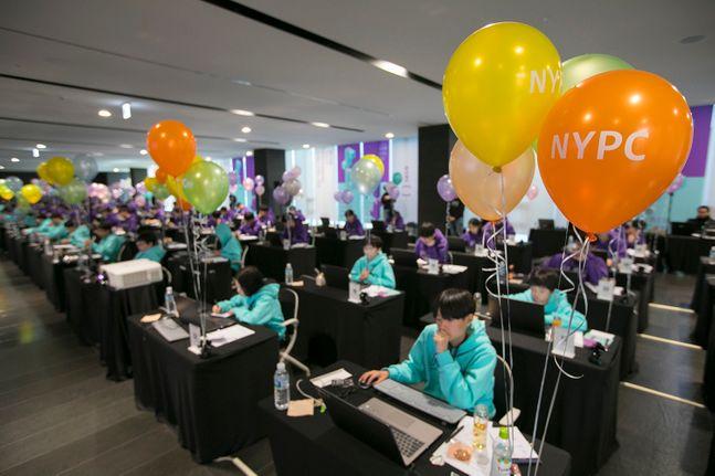 넥슨 청소년 코딩대회 'NYPC 2019' 대회장 전경.ⓒ넥슨
