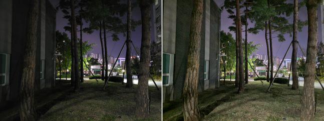 삼성전자 스마트폰 '갤럭시S20 FE'로 야간 촬영한 사진.ⓒ데일리안 김은경 기자