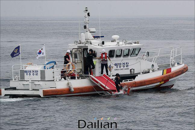 해양경찰이 동해상에서 훈련을 진행하고 있는 모습(자료사진). ⓒ데일리안 홍금표 기자