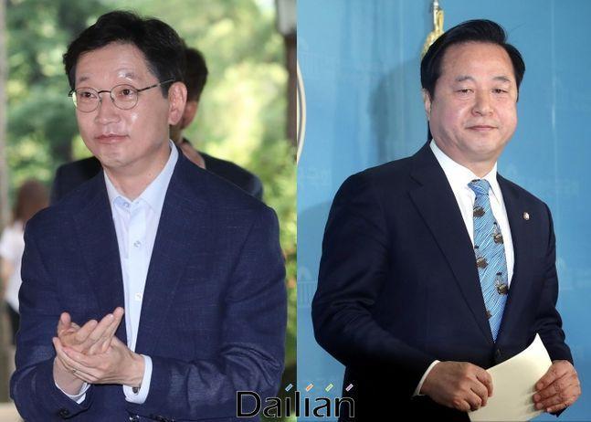 김경수 경남지사와 김두관 더불어민주당 의원ⓒ데일리안DB