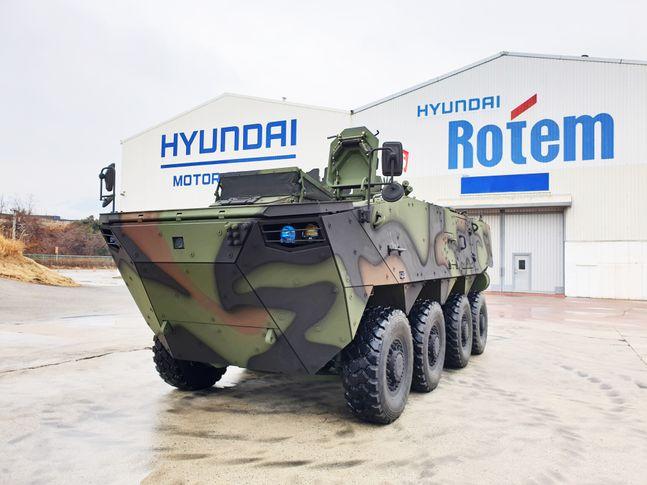 현대로템의 차륜형장갑차 'K808' 이미지 ⓒ현대로템