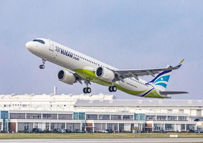 에어부산 항공기 A321LR.ⓒ에어부산