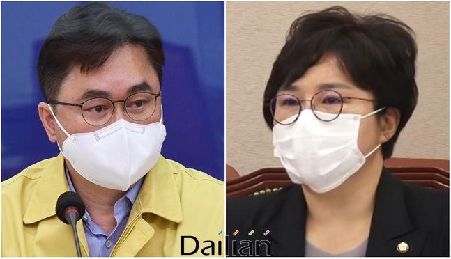 국회 법사위 앙숙관계를 형성한 민주당 김종민 의원과 국민의힘 조수진 의원(자료사진) ⓒ데일리안DB