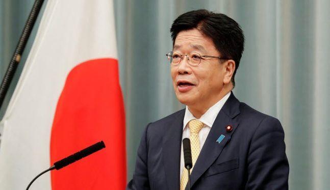 가토 가쓰노부 일본 관방장관 ⓒ연합뉴스