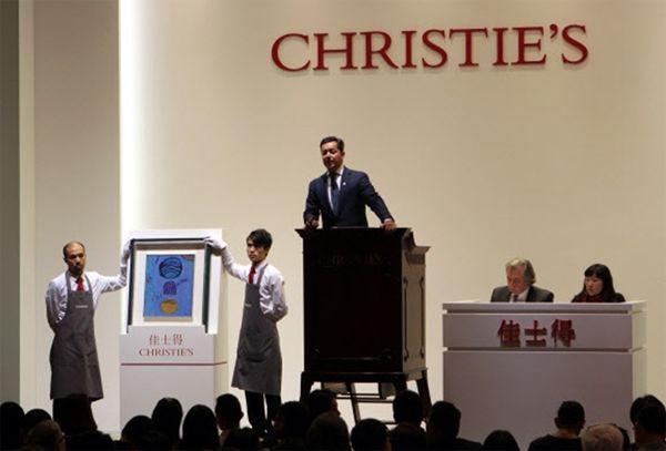 크리스티 홍콩이 진행하는 '아시아 20세기 & 동시대 미술 경매'의 일환으로 열린 이브닝 세일 행사에 김환기의 작품 '무제'를 포함한 한국 작품 6점이 40억6000만 원에 낙찰된 바 있다.ⓒCHRISTIE
