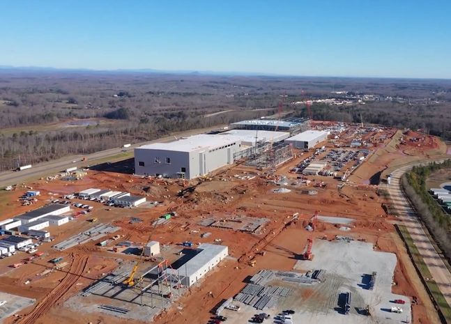 SK이노베이션이 건설 중인 미국 조지아주 제1 배터리 공장 건설 현장ⓒSK이노베이션