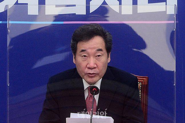 더불어민주당 이낙연 대표가 지난 12일 국회에서 열린 최고위원회의에서 현안과 관련한 발언을 하고 있다.ⓒ데일리안 박항구 기자