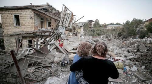 아제르바이잔·아르메니아 교전으로 파괴된 나고르노-카라바흐의 스테파나케르트 시 ⓒ연합뉴스