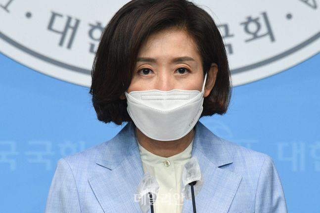 국민의힘 당대표 선거에 나선 나경원 후보 ⓒ데일리안 박항구 기자