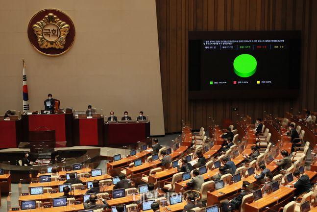 서울 여의도 국회에서 열린 본회의 모습. ⓒ데일리안 박항구 기자