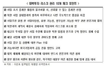 """""""남북 경제관계 틀 정상화돼야 남북간 교역·투자 활성화 가능"""""""
