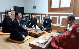 손학규, 종교단체 표심공략… 첫 행보는 '천태종 원흥사'