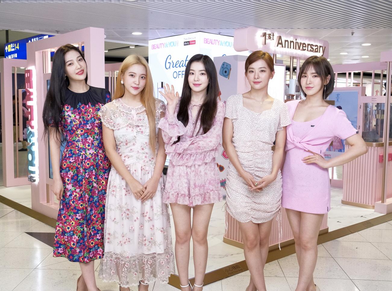 신라면세점, 홍콩 첵랍콕공항점 '첫 돌' 기념 '레드벨벳' 콘서트 성료