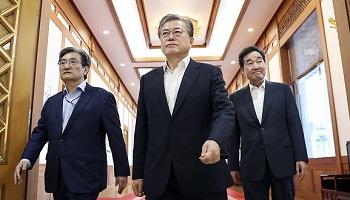 文대통령 지지율 48.8%…부정평가 46.1%