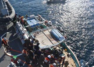 청해부대, 오만 해역서 표류중인 이란 선박 구조
