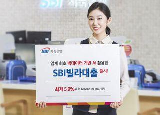 SBI저축銀, '핀테크' 빅밸류와 손잡고 AI 활용 'SBI빌라대출' 출시