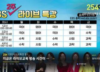 [코로나19] 티브로드, EBS 라이브 특강 긴급 편성
