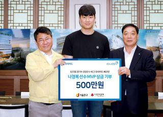 '우리카드 위비' 나경복 선수, 정규리그 MVP 상금 전액 기부
