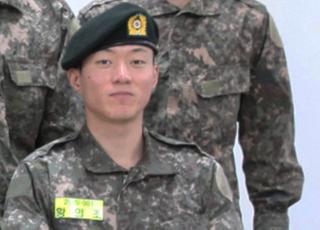 기초군사훈련 황의조, 늠름한 군복 자태