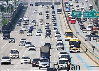 [고속도로 교통상황] 오후 5~6시 사이 서울 방향 교통량 집중