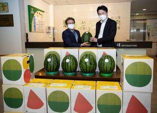 조원태 회장, 강서구 소외계층 위해 통 큰 수박 기부