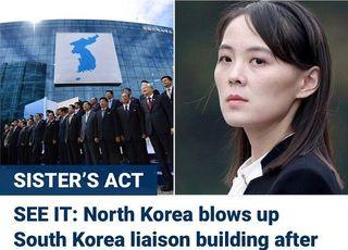 """주요 외신, 북한 연락사무소 폭파에 """"남북관계 변곡점 될 것"""""""