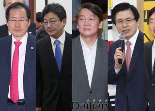[데일리안 여론조사] 야권 잠룡, '홍유안황원' 각축전…'군웅할거'