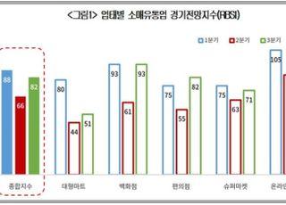 """상의 """"3분기 유통업 체감경기 82…소비심리 다소 회복"""""""