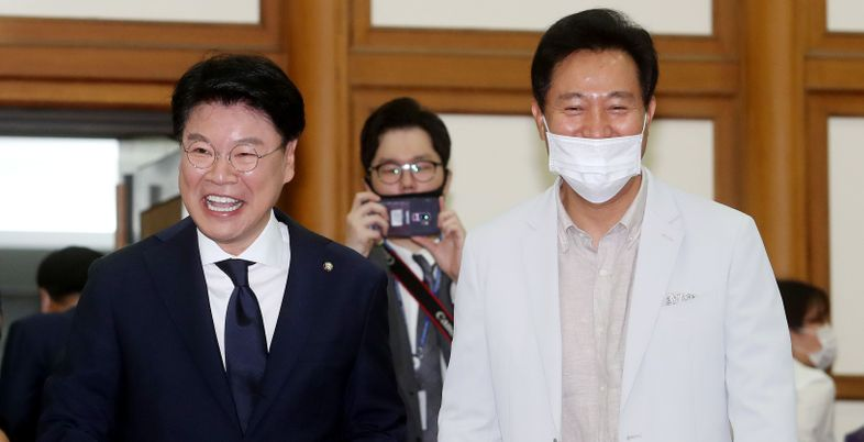 """""""차기대선, 통합당이 이길 가능성 높다""""…자신감 내보인 오세훈"""