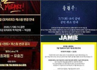 뮤지컬 배우 A씨 코로나19 검사…박은태·최재림 등 줄줄이 캐스팅 변경