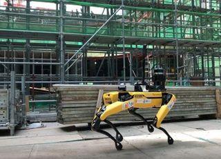 GS건설, 건설현장 '4족 보행 로봇' 국내 최초 도입