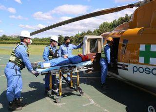 포스코, 헬기로 제철소 응급환자 이송한다