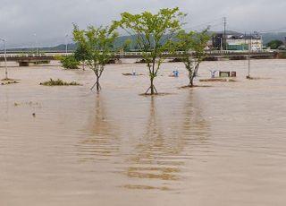 [포토] 폭우에 잠긴 경기도 안성시 청미천 일대