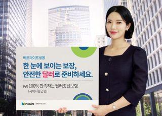 메트라이프생명, '(무)100% 만족하는 달러종신보험' 출시