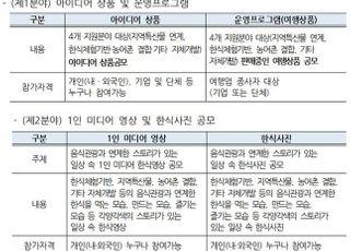 농식품부, 2020 우수 음식관광 공모전 개최