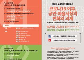 예술경영지원센터, 코로나19 이후 공연·미술시장 변화·과제 논의