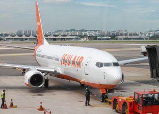 태풍 '바비'에 제주공항 항공편 모두 취소