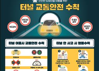 국토부, 도로터널 방재시설 강화