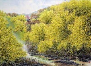 [큐레이터 픽] '산수화의 현대적 모색' 윤산 작가가 선사하는 힐링 유토피아