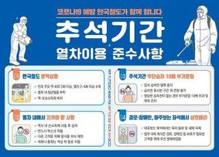 한국철도, 코로나19 예방 위한 '추석 안전여행 캠페인'